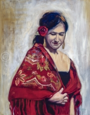 WOMAN IN A RED SHAWL
